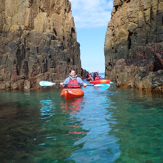 Canoing Sark