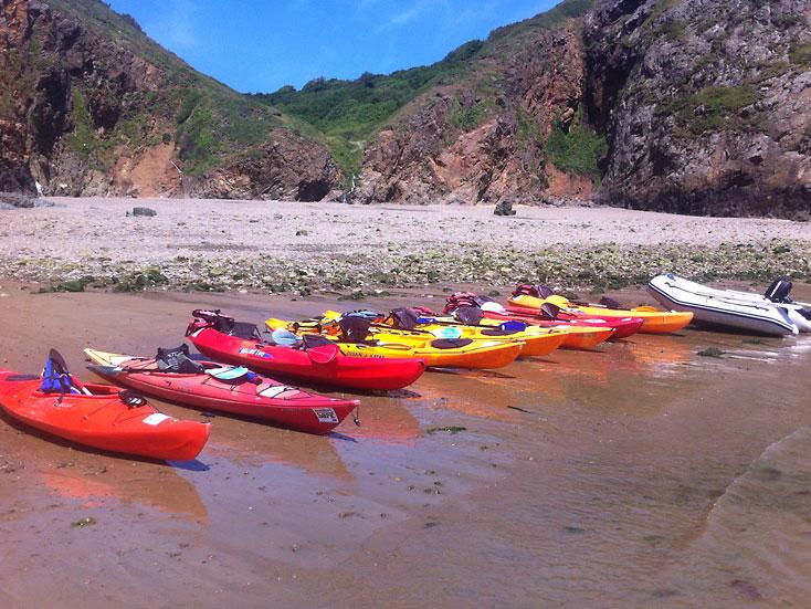 Adventure Sark Kayaking Beach
